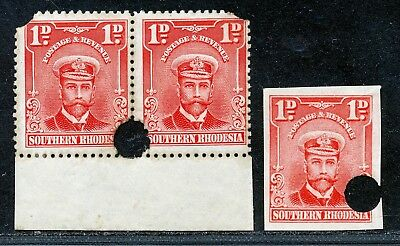 S.RHODESIA 1924 ADMIRAL 1d WATERLOW PROOFS.    A42