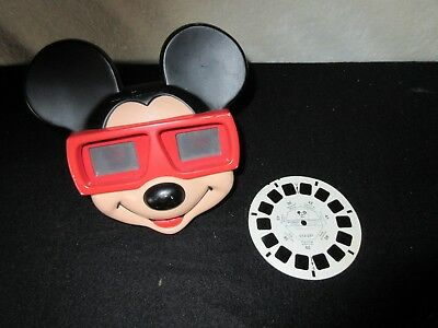 Vintage 1989 Mickey Mouse Disney Viewmaster 3D Viewer & Mickey Mouse Slide Disc
