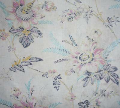 BEAUTIFUL BUT TIMEWORN 19th CENTURY FRENCH LINEN INDIENNE c1850s, REF PROJECTS