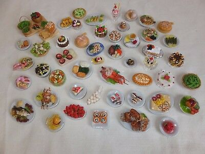 New Dolls House Food - Super Job Lot - Bargain Collect Or Resale - 50 Items!