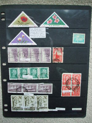 A  Page Used & M.Mint Stamps From Argentina 1936-1954