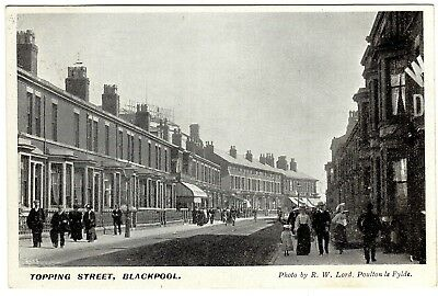 Printed Postcard Holidaymakers-Hippodrome Theatre-Topping Street-Blackpool 1904