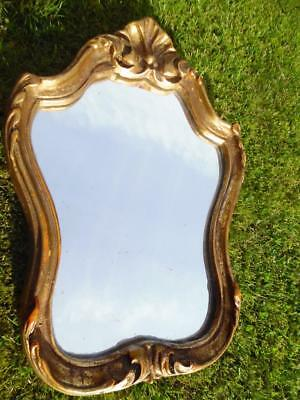 Petite Vintage French Boudoir Mirror- So Shabby Chic!