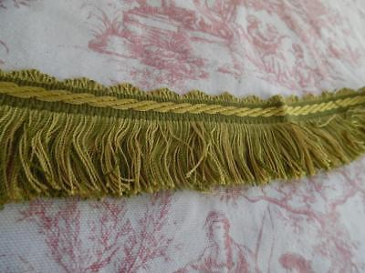 3 Metres FABULOUS VINTAGE FRENCH PASSEMENTERIE BRAID/TRIMMING -  Green & Gold