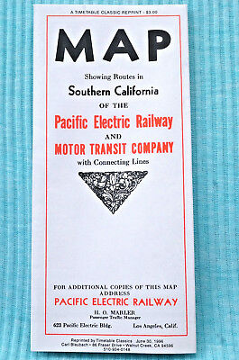 Pacific Electric Railway Map - 1933 - Reprint