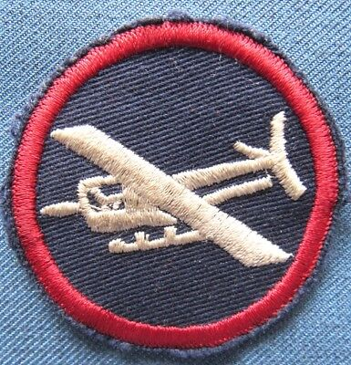 Original WWII US Army officer glider patch for overseas cap, emb on twill