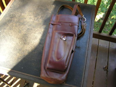 Vintage stag leather arrow quiver