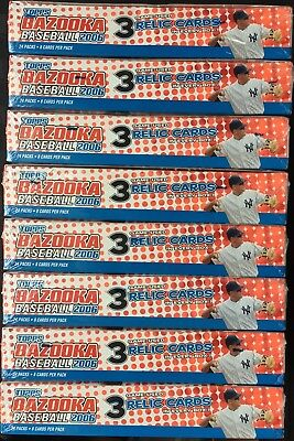 Lot of Eight (8) 2006 Topps Bazooka Baseball Hobby Boxes; Factory Sealed; NR!