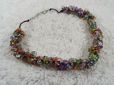 Colorful Glass Chip Necklace (C19)