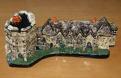 Rare Large Tey Pottery Britain in Miniature Stokesay Castle, 12 inches Long