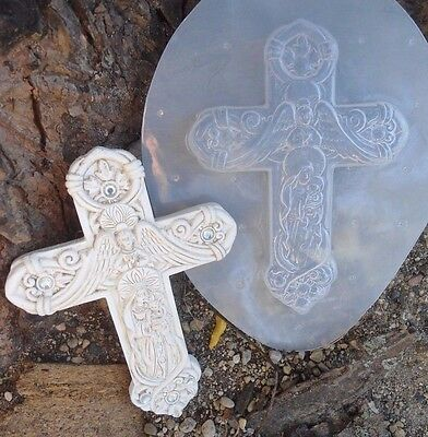 """poly plastic cross mold 5"""" x 3.5"""" x .25"""" thick"""