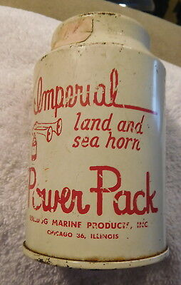 Vintage Imperial Bulldog Marine tin  can Hand Held boat land sea Air Horn Boat