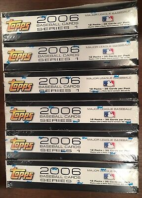 Lot of 6 2006 Topps Baseball Series 1 Retail Boxes - Factory Sealed; No Reserve!