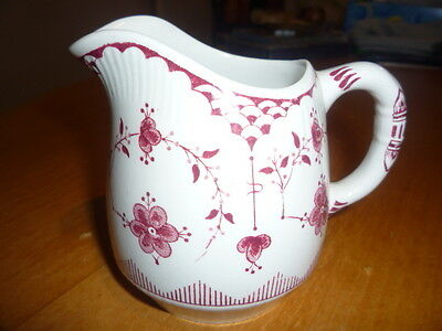 Furnivals Limited Denmark Trade Mark England Pink & White Small Jug. Very Nice