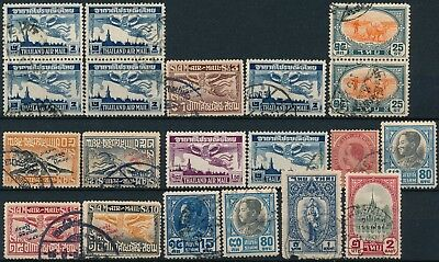 Siam - Thailand, Old Unchecked Air Mail Issue & Others Used Stamps, See..   #t2