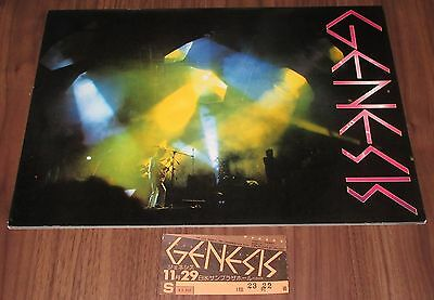 With GIG TICKET STUB! GENESIS Japan TOUR BOOK 1978  PHIL COLLINS concert program