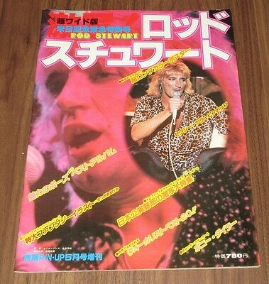 ROD STEWART Japan only 1979 MAGAZINE not tour book BONNIE TYLER pin-up / poster