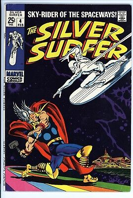 Silver Surfer #4 Vol 1 Super High Grade Classic Thor vs Silver Surfer Cover