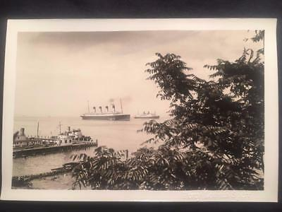 '32 RMS Olympic & SS Oriente Ocean Liner Ship Vintage Original Old Photo T76