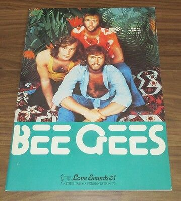 THE BEE GEES Japan 1973 tour book NICE CONDITION concert program MORE BGs listed