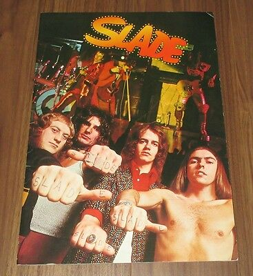 Slade JAPAN TOUR BOOK 1974 Noddy Holder GLAM ROCK concert program ORIGINAL!