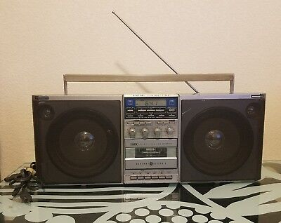 Vintage General Electric 3-6035A Boom Box Ghetto Blaster WORKS With Power Cord