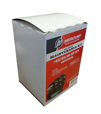 OEM Mercury 100 Hour Maintenance Kit for 40, 50, 60 HP EFI Outboards 8M0090558