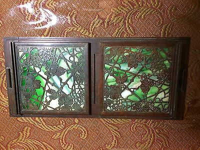 Antique Tiffany Studios Grapevine Pattern 1027 Book Holders Bookends