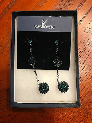 SWAROVSKI PIN-UP INDICOLITE PIERCED EARRINGS BRAND NEW with tags