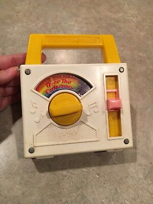 1981 Fisher Price Over The Rainbow Musical Toy Radio GUC!