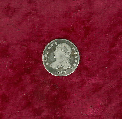 1827/7 Capped Bust Dime in Very Good