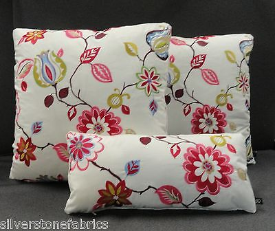 Three Pierre Frey Boussac Sidonie Embroidered Custom Throw Pillow Covers C26
