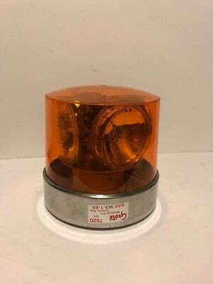 Rare Grote 7620 Vintage Amber Emergency Beacon Light 4 Bulb Never Used