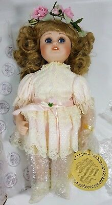 """DYNASTY DOLL COLLECTION Rosemary PORCELAIN 18"""" VINTAGE STILL IN BOX"""