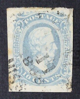 CKStamps: US Confederate States Stamps Collection Scott#11a Used Tiny Thin
