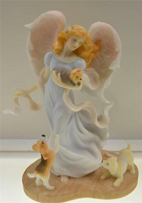 Seraphim Angel JOANNA 78749 Carefree Spirit w DOGS #d 1227/5000 NIB *FREEusaSHIP