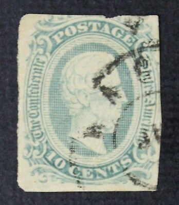CKStamps: US Confederate States Stamps Collection Scott#11c Used Lightly Crease