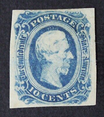CKStamps: US Confederate States Stamps Collection Scott#12 Mint LH OG Crease