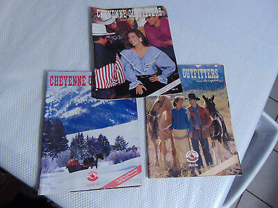 "3-Issues/Catalogs of CHEYENNE OUTFITTERS ""Live the Legend"" 2-1993 & 1-1994"