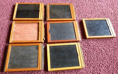7 Antique Film Holders, Mixed lot, 4 x 5