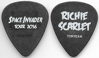 Kiss-Ace Frehley Solo Tour Guitar Pick! Richie Scarlet! Charcoal/white!