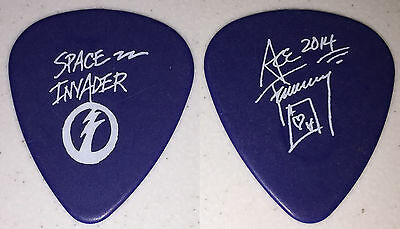Kiss-Ace Frehley Space Invader Solo Tour Guitar Pick-Ace's Own Pick-Blue/white!