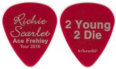 Ace Frehley-Kiss-Richie Scarlet Red 2 Young 2 Die Tour Guitar Pick!