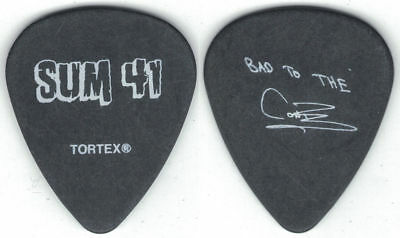 SUM 41 Tour GUITAR PICK-CONE McCASLIN! BAD TO THE CONE!