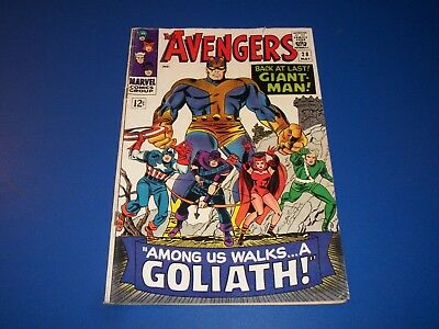 Avengers #28 Silver Age 1st Goliath 1st Collector Key Wow VG