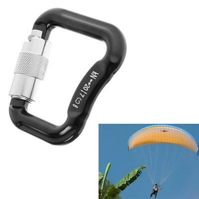 20KN Aluminum Alloy Snap Carabiner Screw Auto Locking Paragliding Parachute