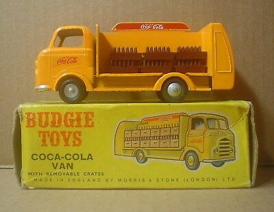 Original 1950s Coca-Cola Delivery Truck & Box ~ Budgie Toys ~ England ~ Die-cast
