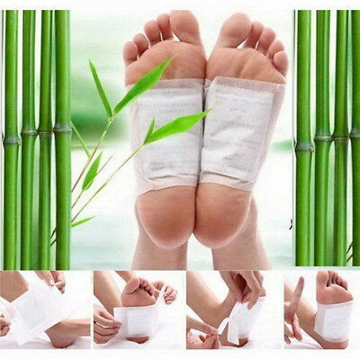 10pcs Detox Foot Pads Patch Detoxify Toxins Fit Health Care with Adhesive L7S