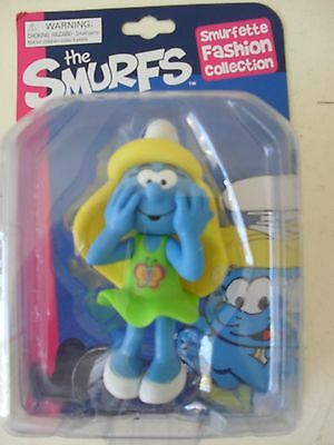 """The Smurfs Smurfette Fashion Collection 5.5"""" Figure Green Dress"""