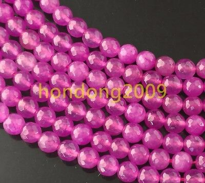 8mm Faceted rose Alexandrite Round Gemstone Loose Beads 15""